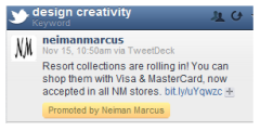 Neiman Marcus tweet of resort shopping